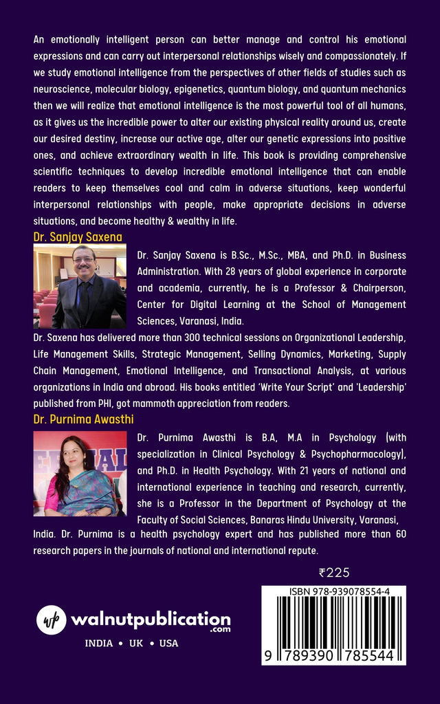 Power of Emotional Intelligence - Incredible Tool to Become Healthy and Wealthy - Back Cover