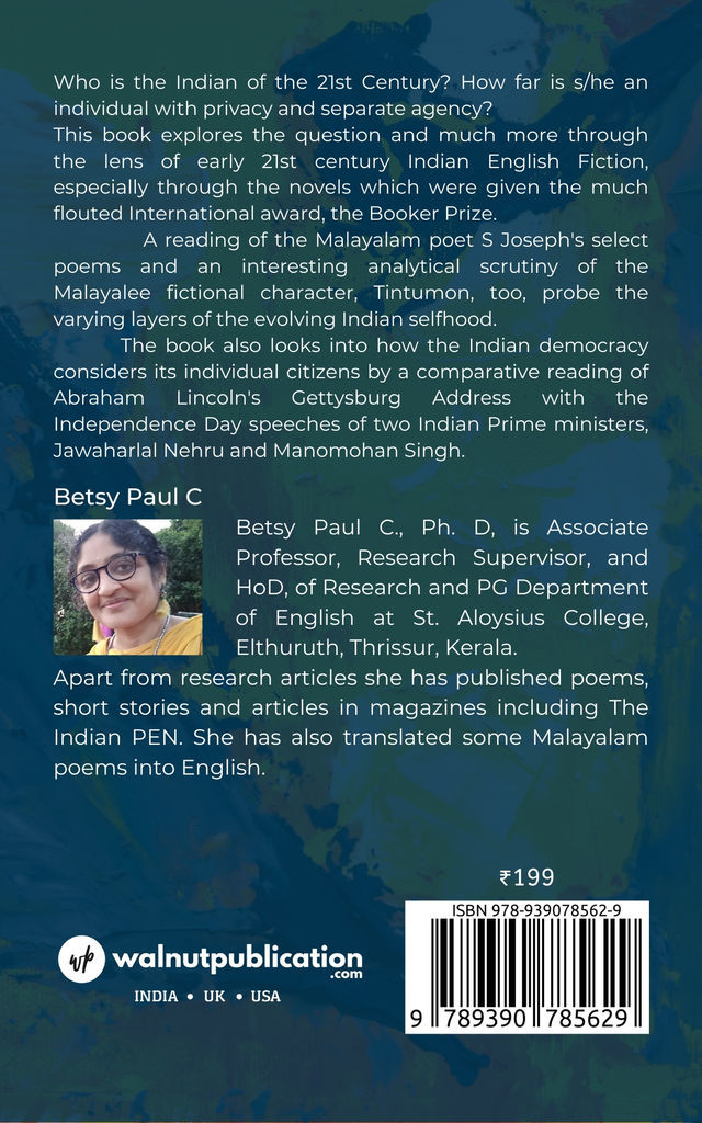 Individuated Indian: Emerging Selfhoods - Back Cover