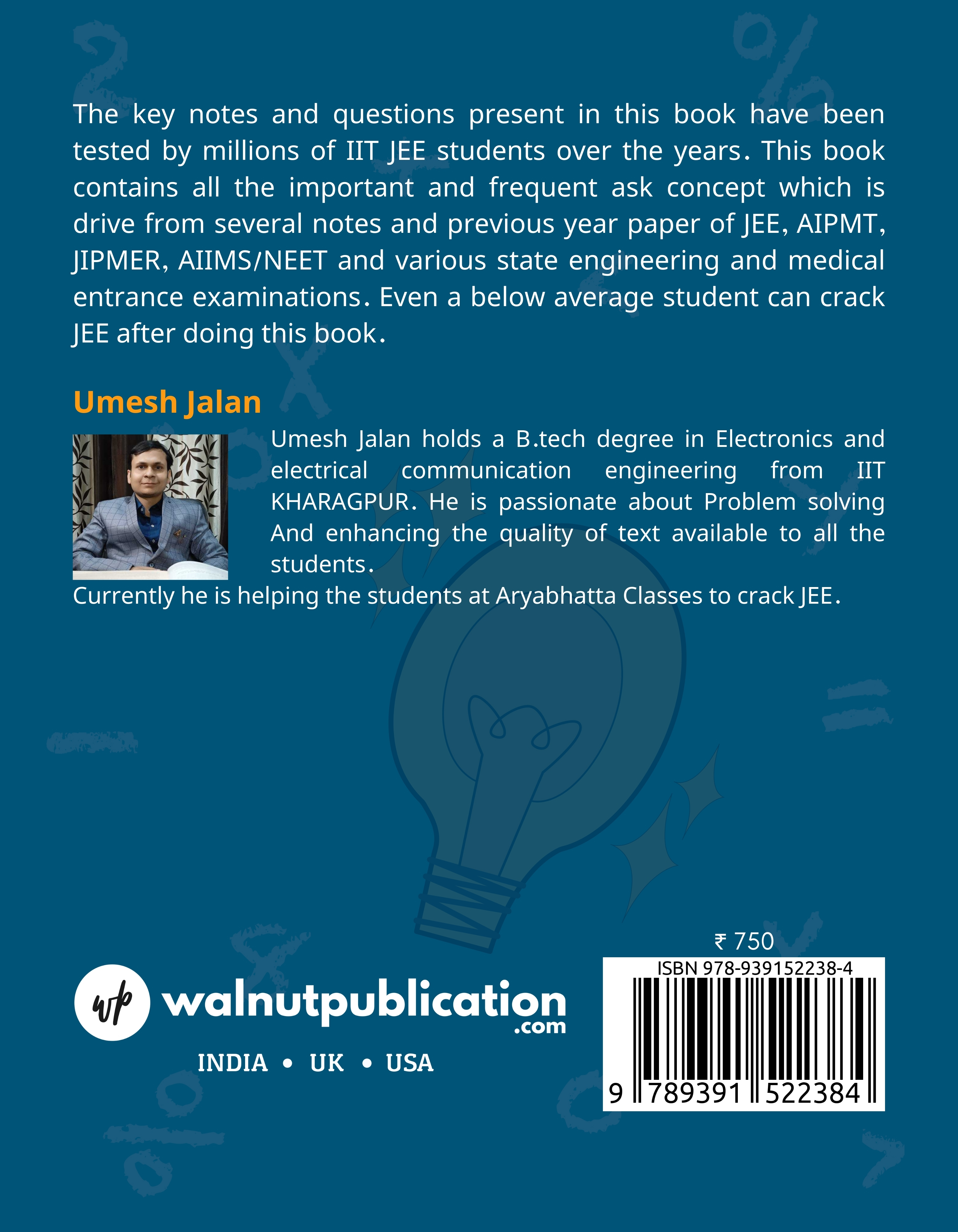 Target IIT JEE ( A complete solution in Mathematics) Class XI - Back Cover