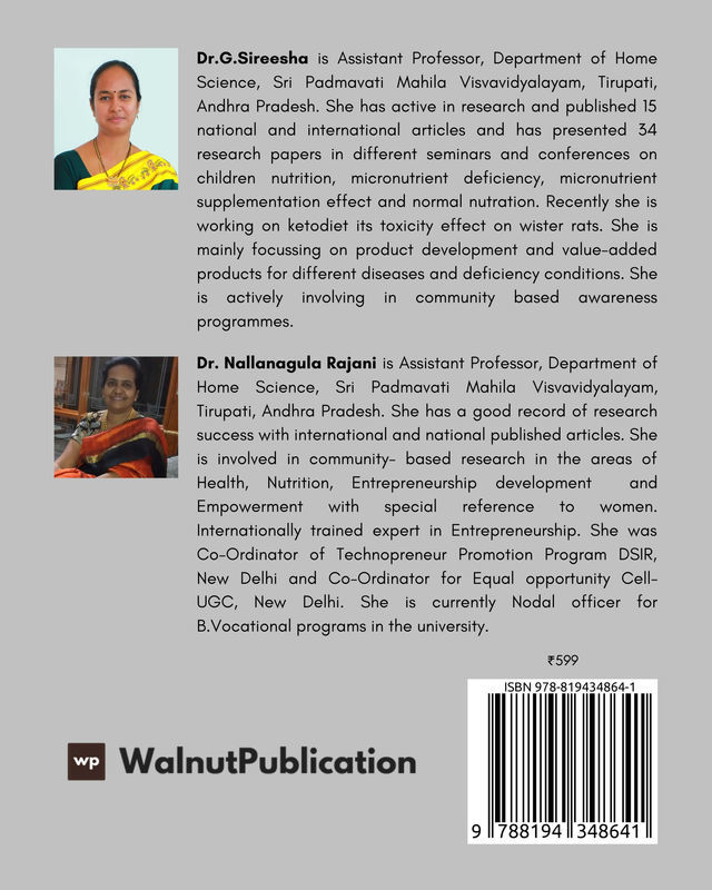 Nutrition, Health and Wellness - Back Cover