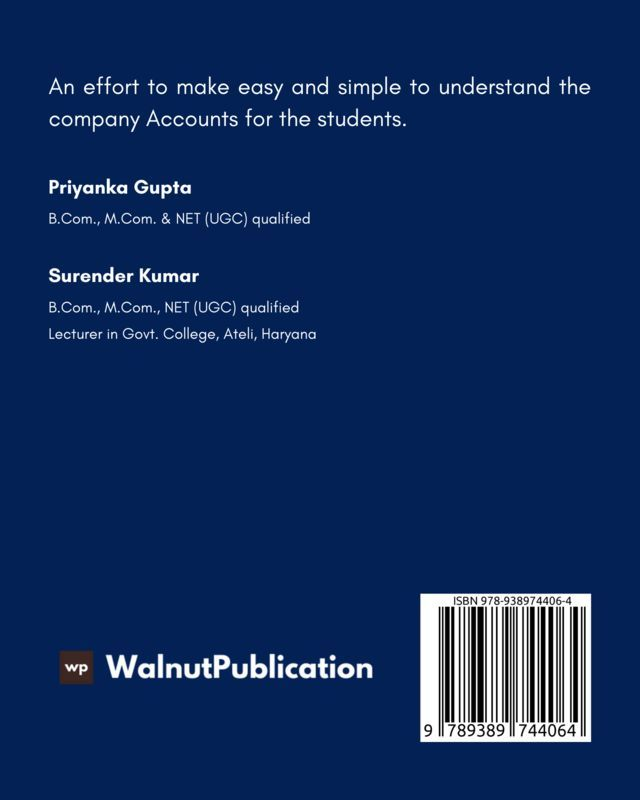 Company Accounts - Back Cover