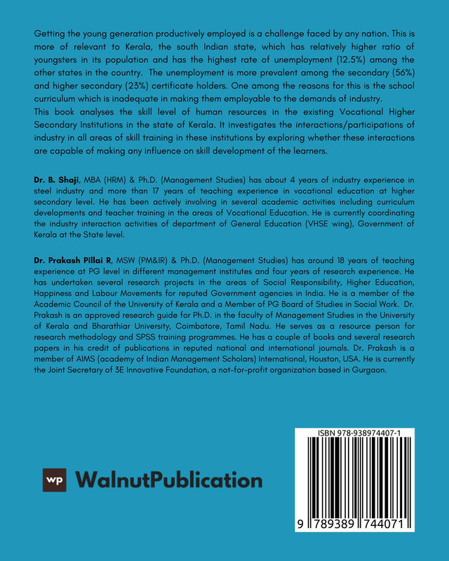 Institute Industry Interaction and its Influence on Skill Development: The Case of Kerala - Back Cover