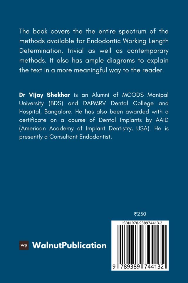 Endodontic Working Length Determination - Back Cover