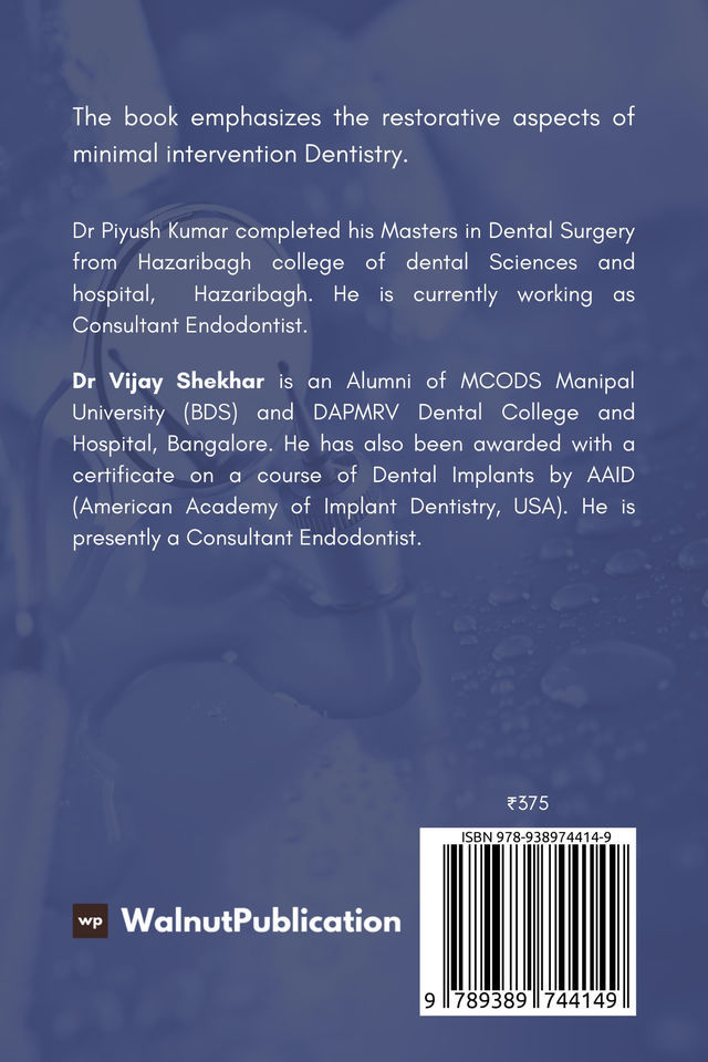 Minimal Intervention Dentistry - Back Cover