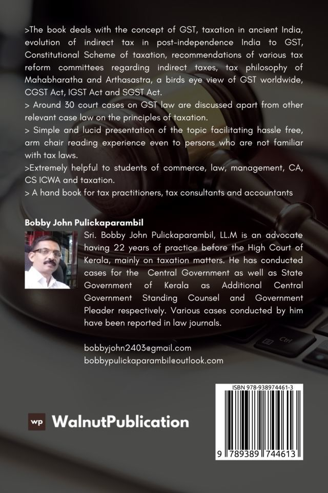 An Introduction to GST Laws - Back Cover