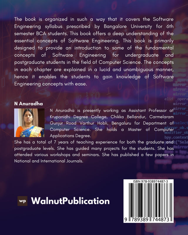 Introduction to Software Engineering - Back Cover
