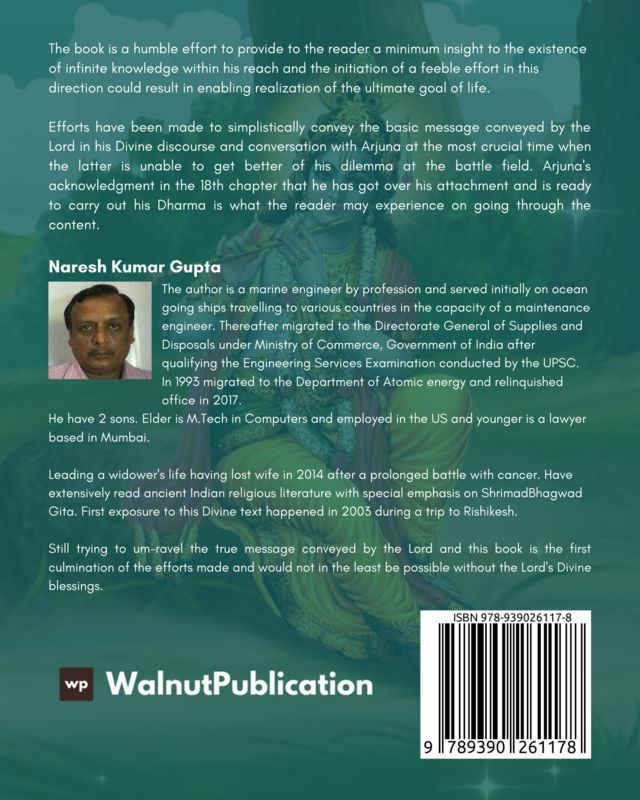 Shrimadbhagwad Gita - The Ultimate Scripture - Back Cover