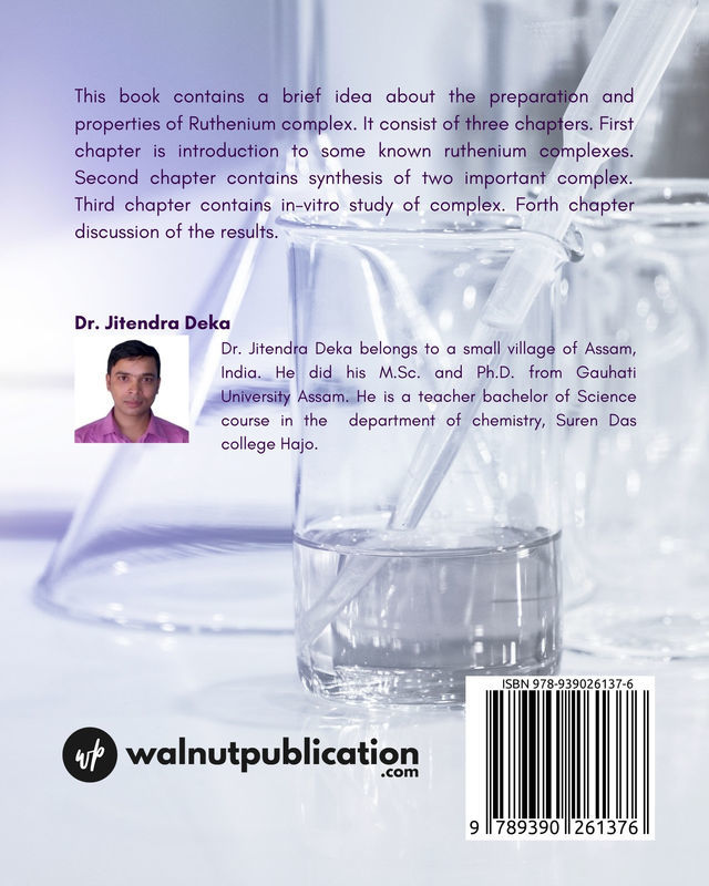 Ruthenium complex as anticancer drugs - Back Cover