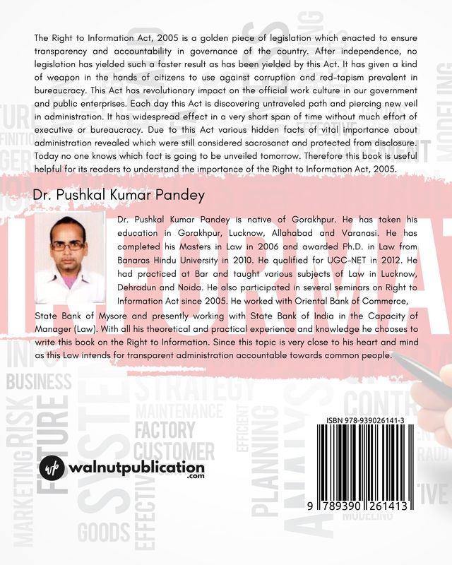 The Right to Information: A Brief Overview - Back Cover