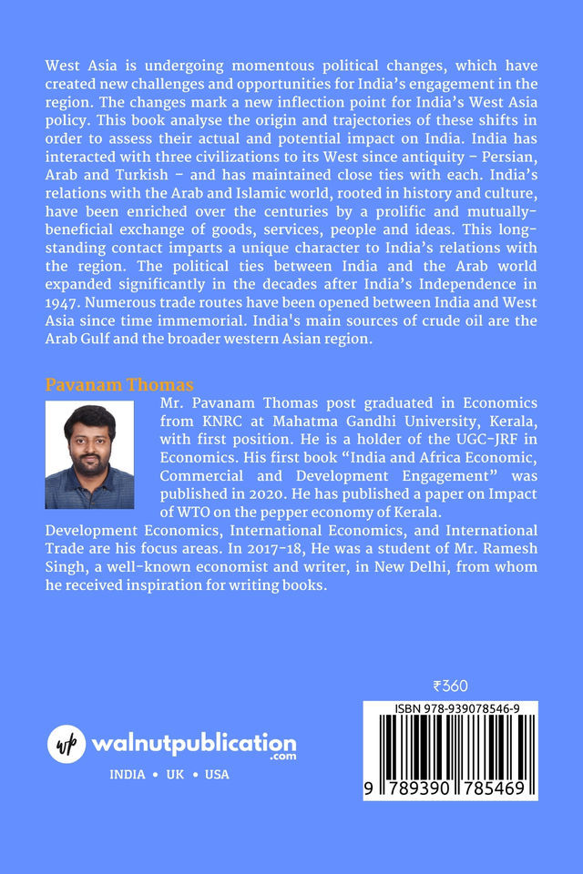 India and West Asia Economic and Commercial Linkage - Back Cover