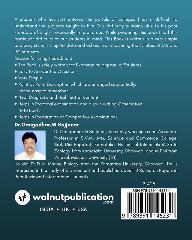 Glimpse of Zoology - Back Cover