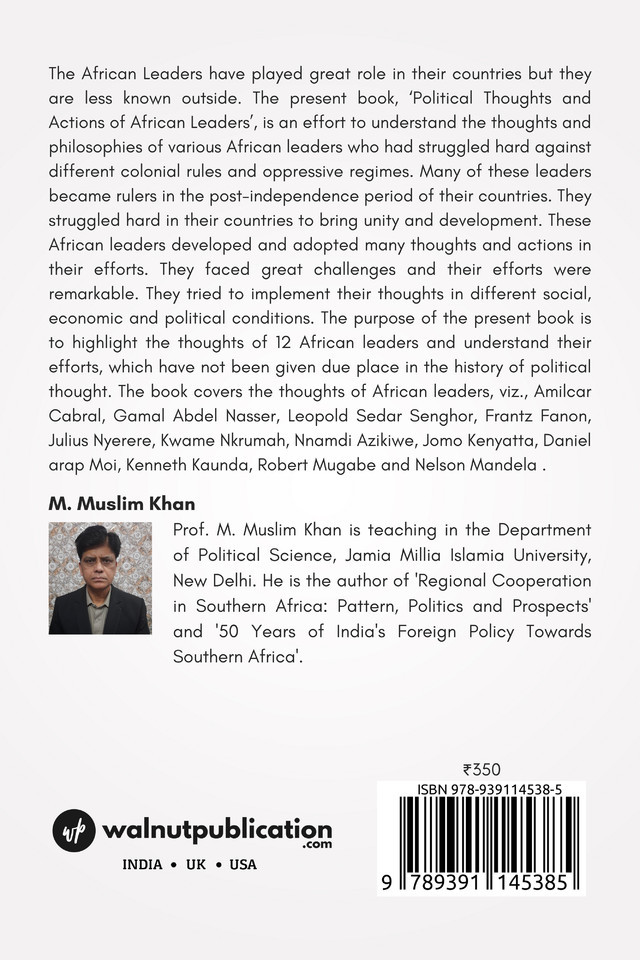 Political Thoughts and Actions of African Leaders - Back Cover