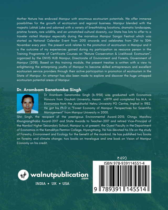 Ecotourism Development Ventures in Manipur: Green Skill Development and Livelihood Mission - Back Cover