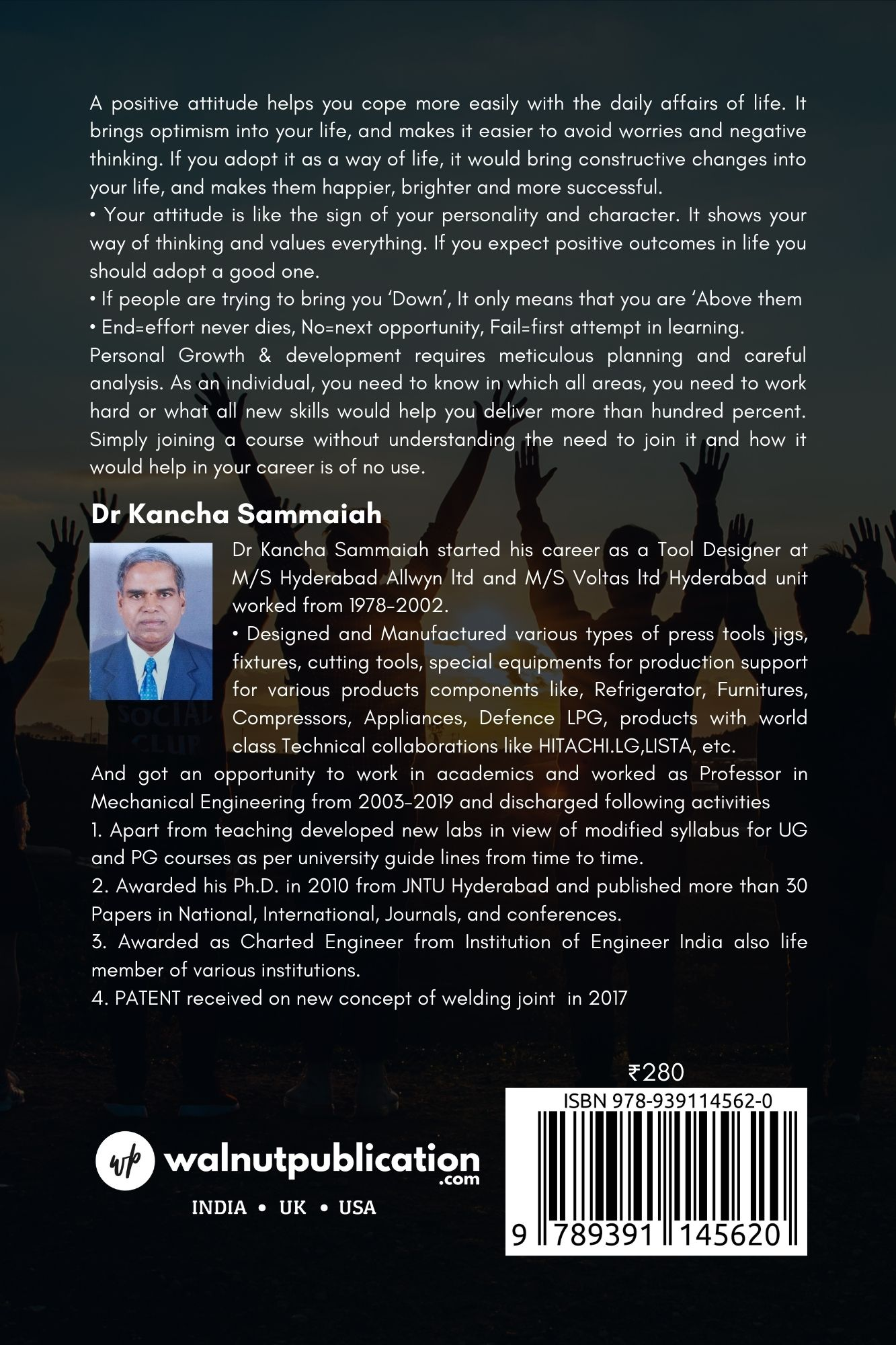 The Secret of Impact of Attitude, Personal growth, Get Rich and Win Friends - Back Cover