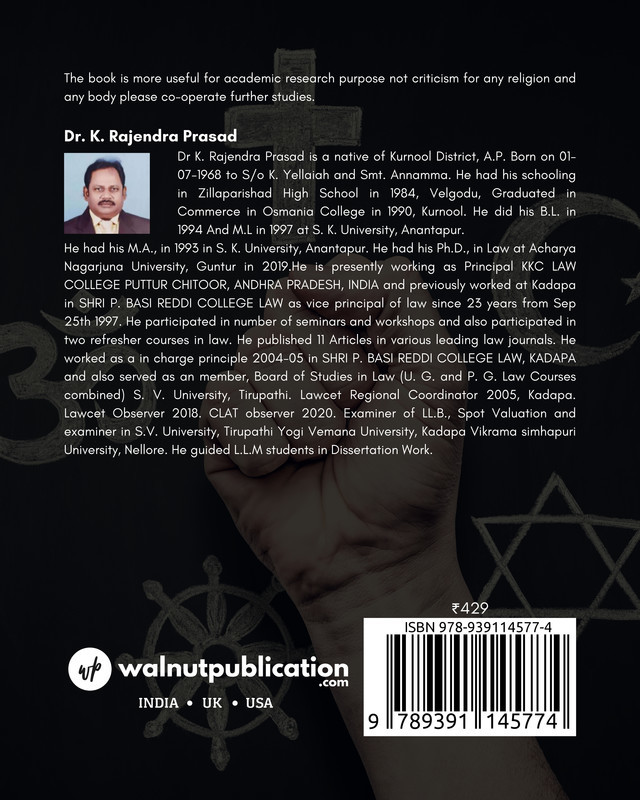 Does Religion Breed Violence? – A Critical Analysis of Religious Tenets and Criminal Traits - Back Cover