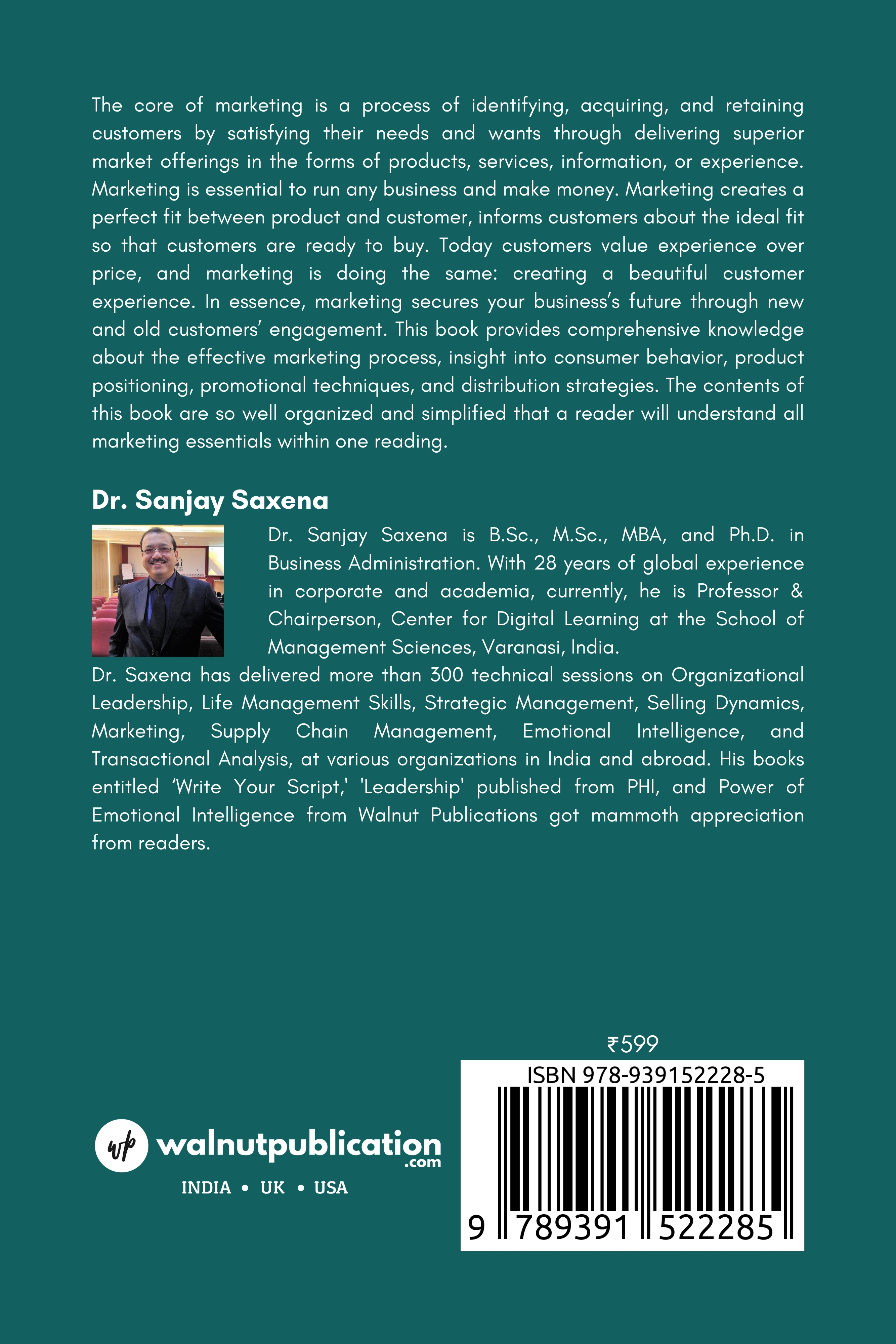 Essentials of Marketing - Back Cover