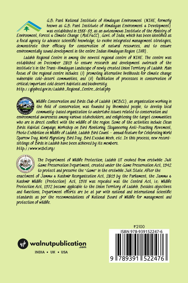 A Comprehensive Account of The Birds of Ladakh: Commentary, Notes, and Field Guide - Back Cover