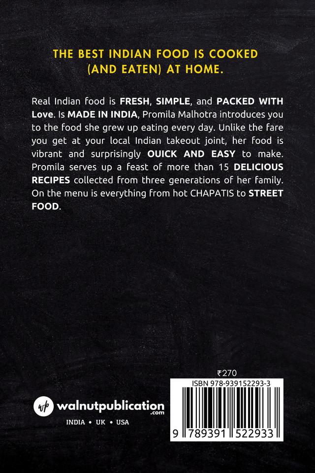 Desi Food - Back Cover